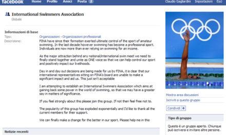 Navigare il web 2.0 a stile libero: su Facebook il sindacato dei nuotatori