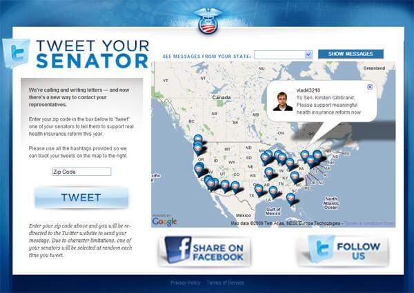 Tweet your senator, mobilitazione social network USA per la riforma della sanità