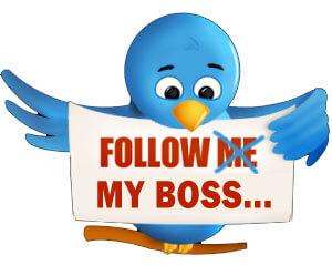 Follow my boss on Twitter