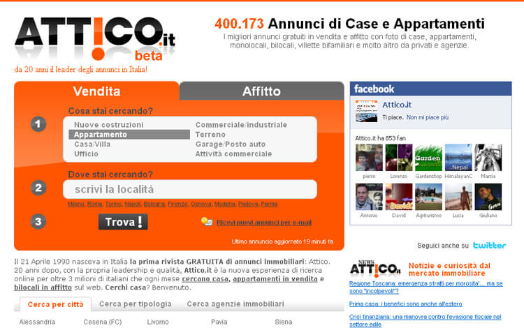 Online il nuovo Attico.it