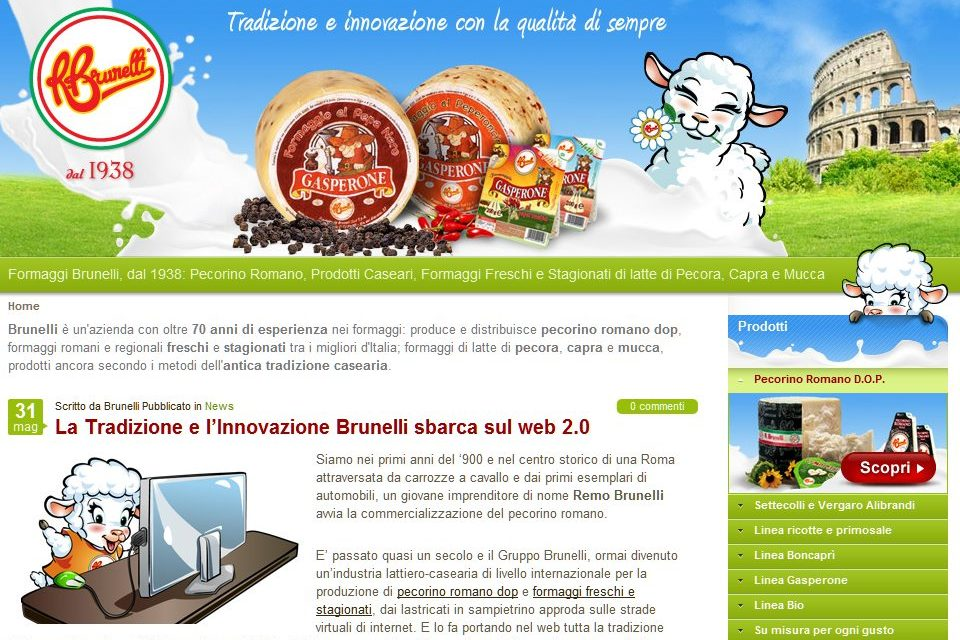 Con Studio Boraso.com i formaggi Brunelli sbarcano nel web 2.0