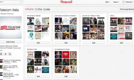 Pinterest, arrivano Telecom e Tim
