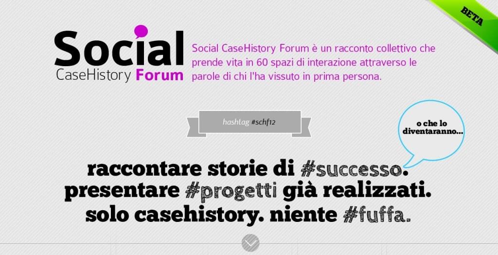 Social CaseHistory Forum Milano 2012