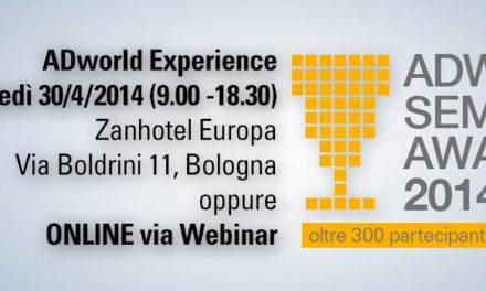 ADworld Experience 2014: a Bologna il 30 Aprile