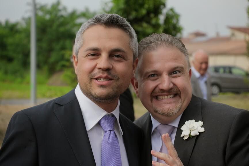Rudy Bandiera al matrimonio di Claudio Gagliardini, a Cremona