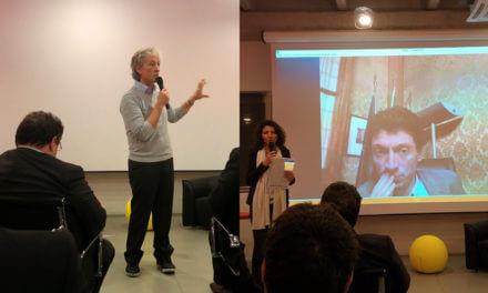 Riccardo Luna all'inaugurazione del Cobox a Cremona
