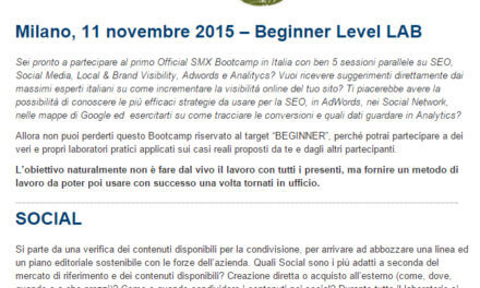 SMX Milan 2015 BootCamp: Social Media