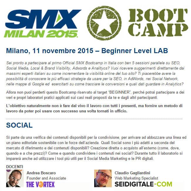 SMX Milan BootCamp 2015