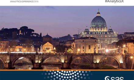 A Roma dal 7 al 9 novembre Analytics Experience 2016 SAS