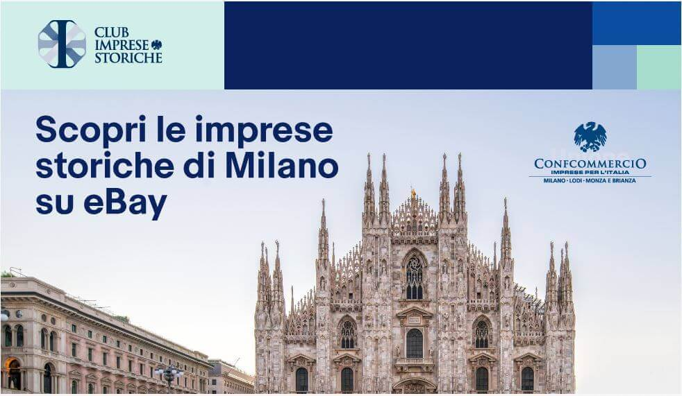 La digitalizzazione delle imprese storiche di Milano in un progetto di eBay.it e Confcommercio