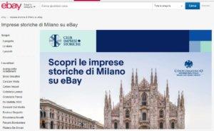La landing page di eBay dedicata alle Imprese Storiche di Milano