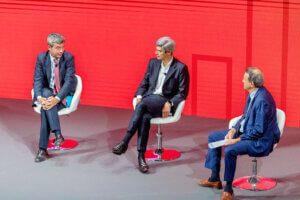Il Ministro Andrea Orlando, Marco Sesana di Generali Italia e il moderatore Fabio Tamburini